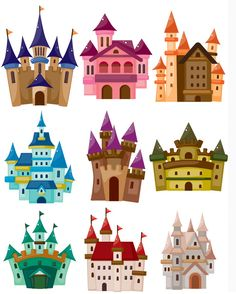 landscape with castle clip art.