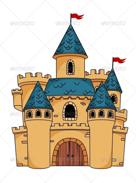 Medieval Cartoon Castle.