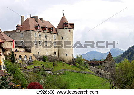 Pictures of The Castle of Gruy?res (Switzerland k7928598.