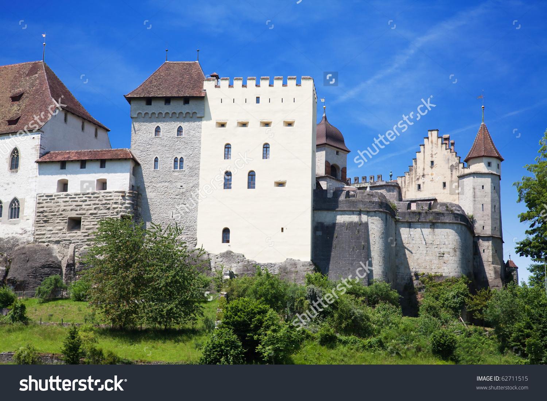Lenzburg Castle Near Zurich Switzerland Stock Photo 62711515.