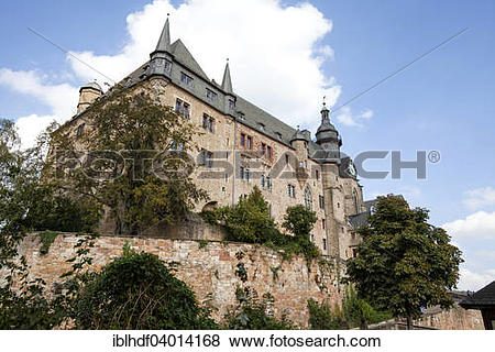 "Pictures of ""Marburger Schloss castle, Marburg, Hesse, Germany."