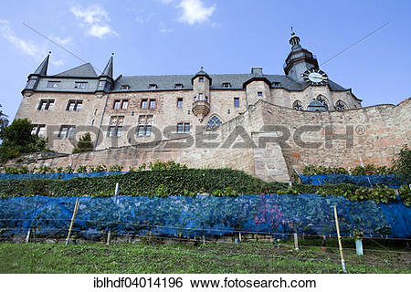 "Stock Images of ""Marburger Schloss castle, Marburg, Hesse, Germany."