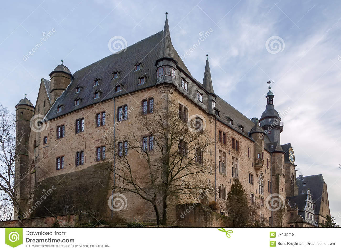 Castle In Marburg, Germany Royalty Free Stock Photos.