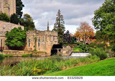 Warwick Castle Mill, Uk Stock Photo 83320828 : Shutterstock.