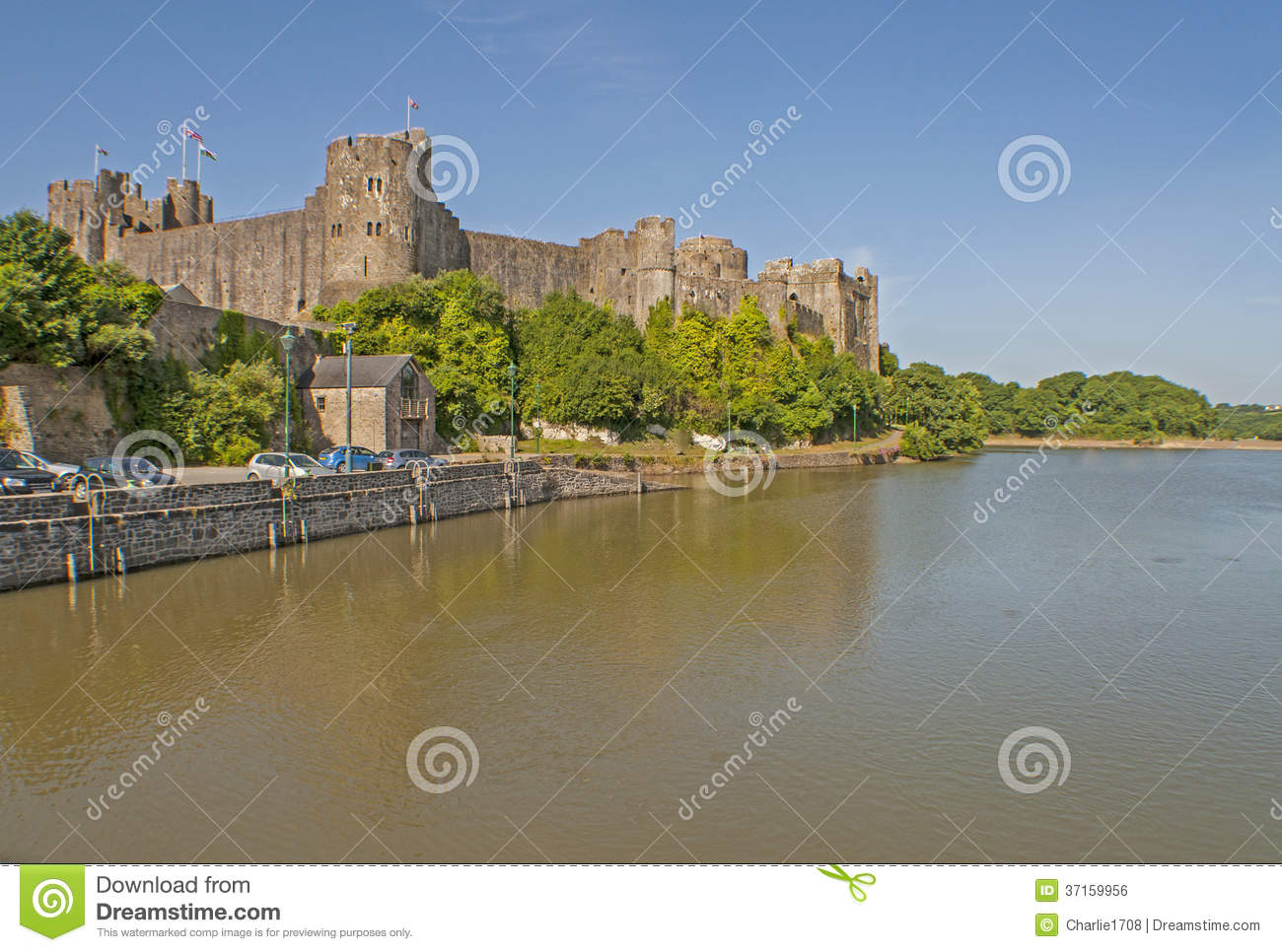 Pembroke Castle 1 Royalty Free Stock Image.