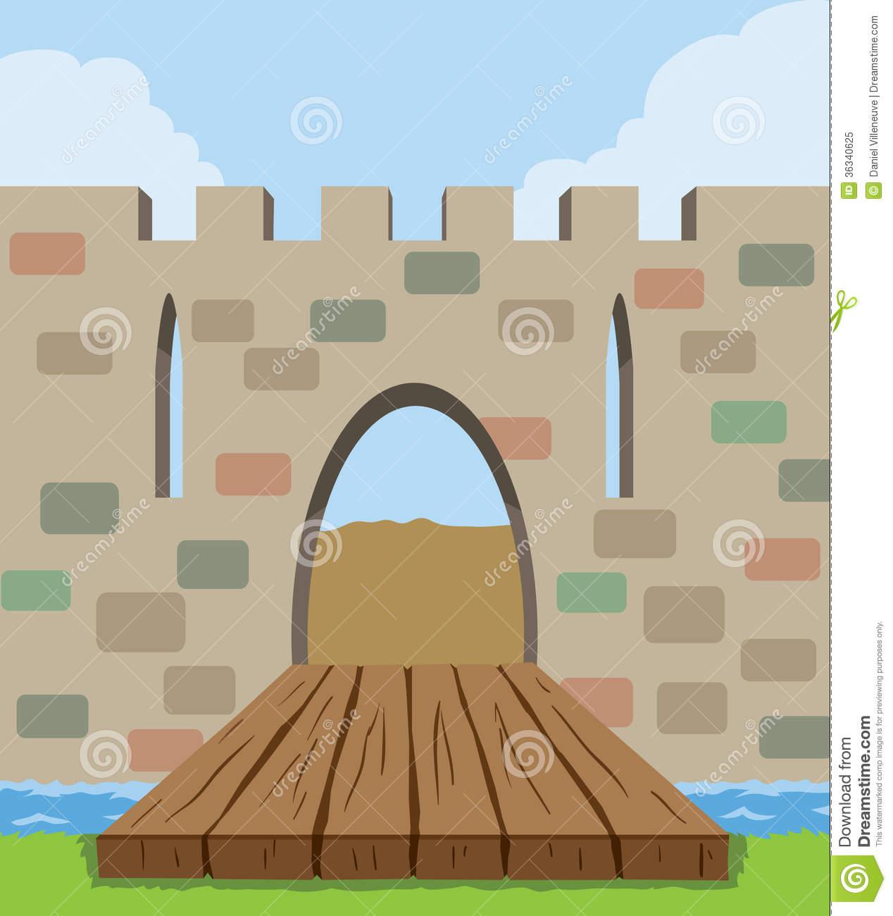Castle Moat Stock Illustrations.