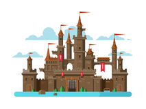 Castle Moat Stock Illustrations.
