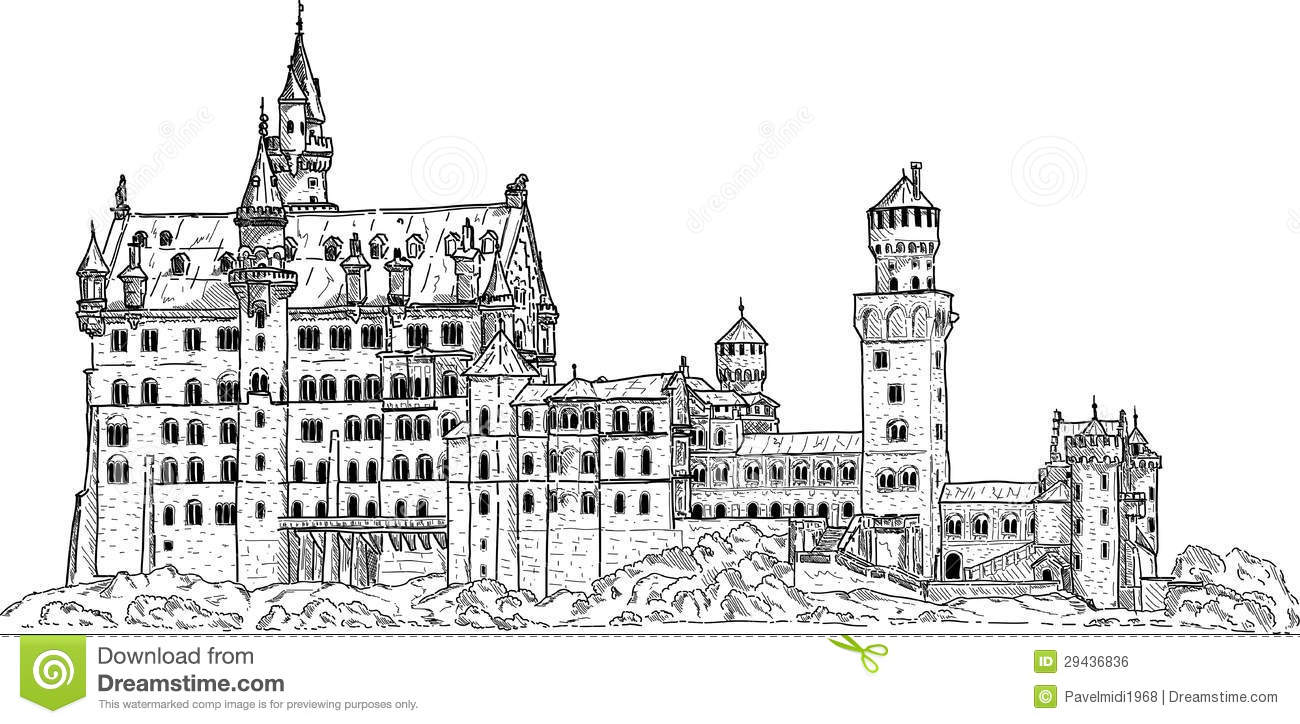 Neuschwanstein castle clipart #13