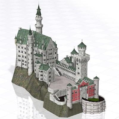 Neuschwanstein Castle (Poser/ Vue).