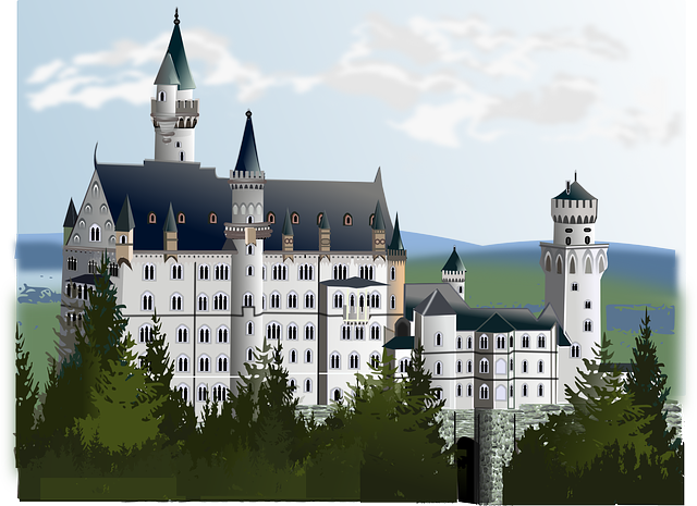 Neuschwanstein castle clipart.