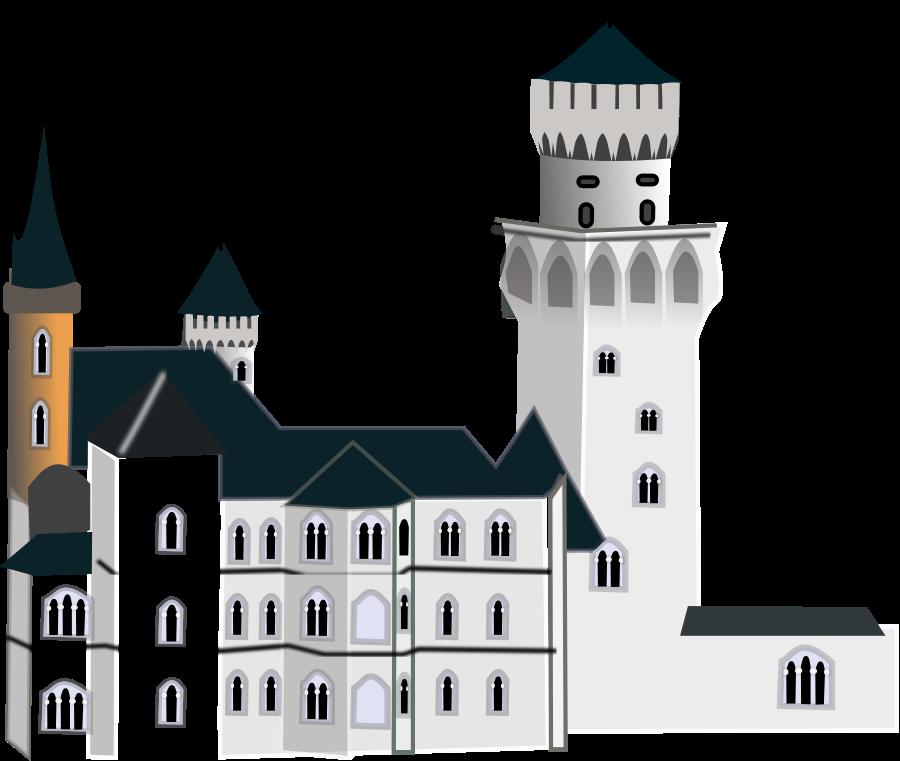 Neuschwanstein Castle Clipart, vector clip art online, royalty.