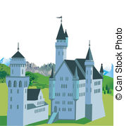 Neuschwanstein castle Vector Clipart Royalty Free. 48.