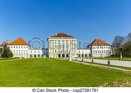 Pictures of Nymphenburg castle grounds in Munich, Germany.