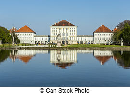 Stock Photographs of Nymphenburg castle grounds in Munich, Germany.
