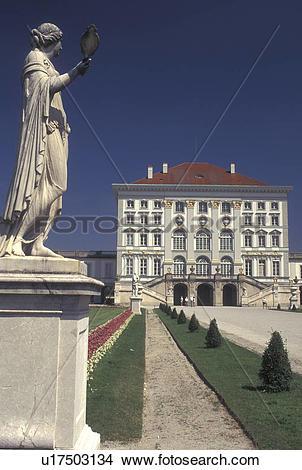 Stock Photo of castle, Munich, Germany, Bavaria, Munchen, Europe.