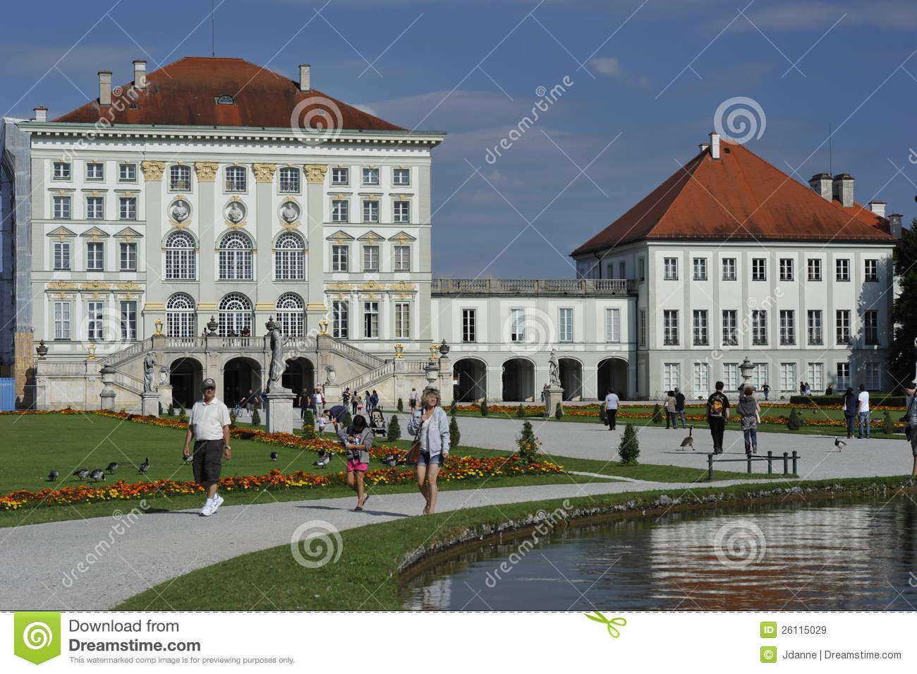 Schloss Nymphenburg, Munich, Germany Editorial Stock Image.