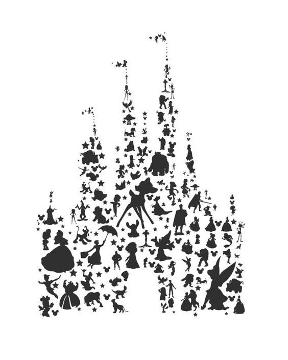 Castle clipart transparent background black and white.
