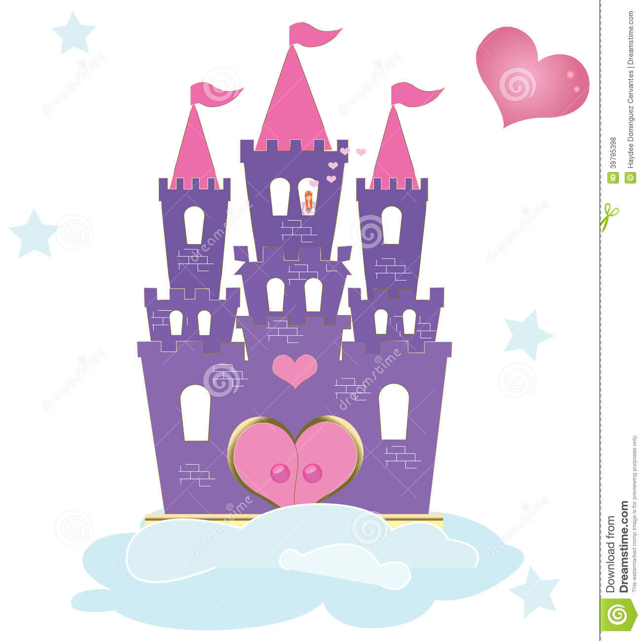 The Princess Castle Stock Illustration.