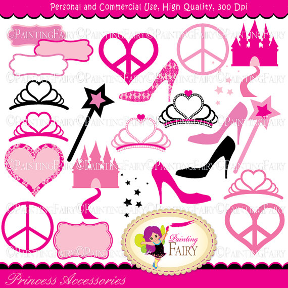 Princess Tiara And Wand Clipart.