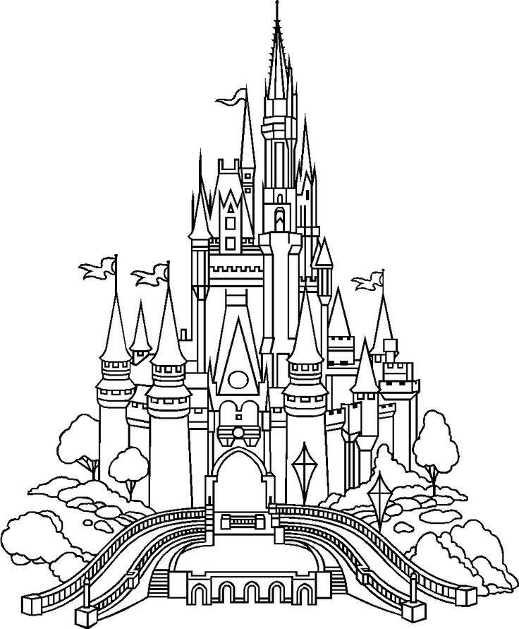 Simple Disney Outline Clipart Clipground