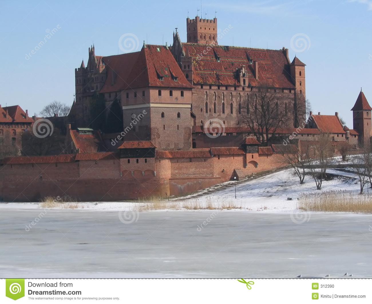 Malbork Castle Of Teutonic Knights Stock Photo.