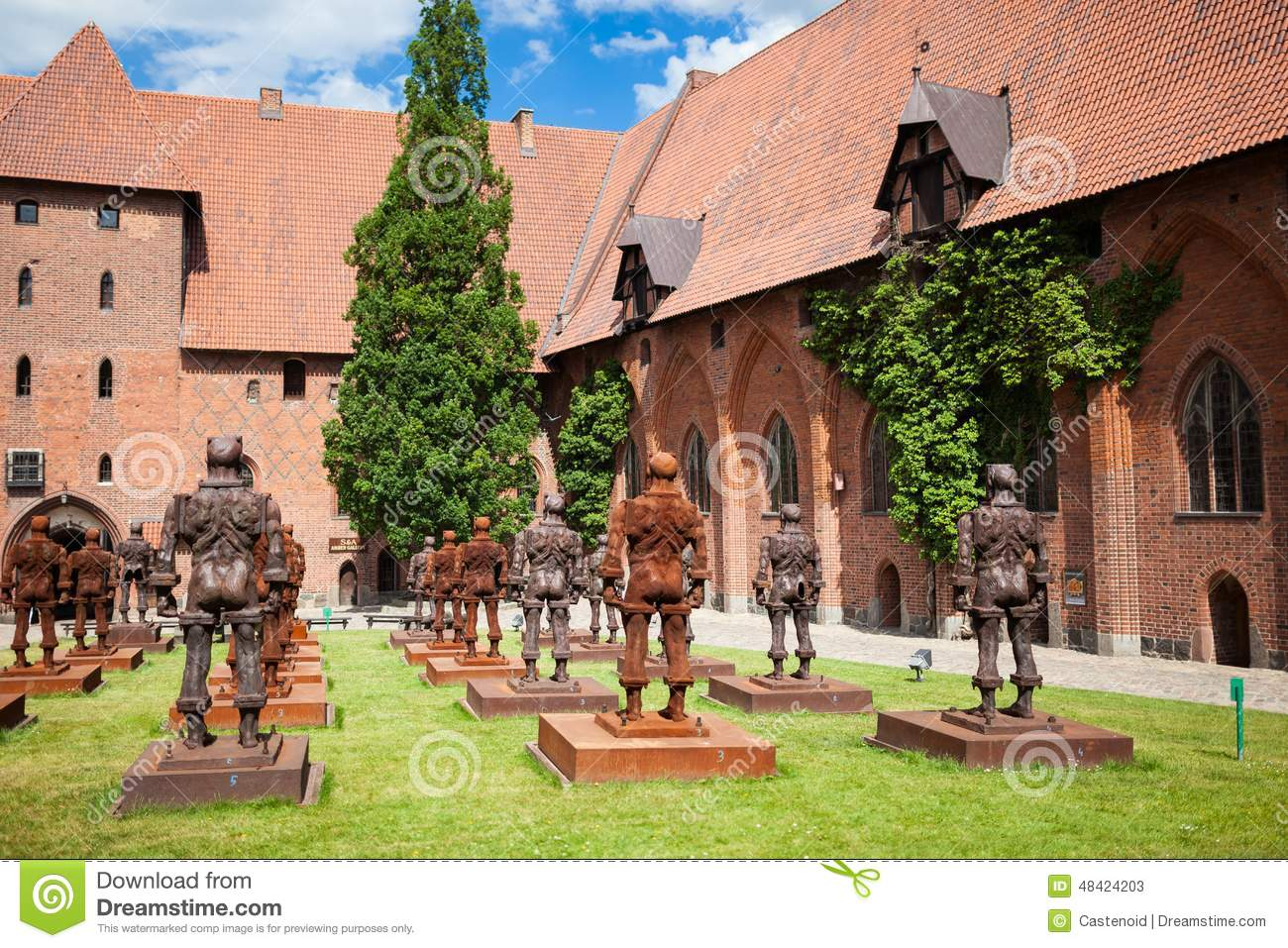 The Castle Of The Teutonic Order In Malbork Royalty Free Stock.