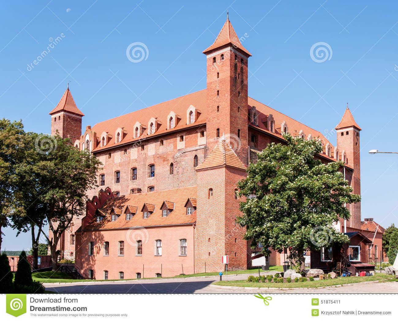 Castle Of Teutonic Knights Order In Malbork, Poland Stock Photo.