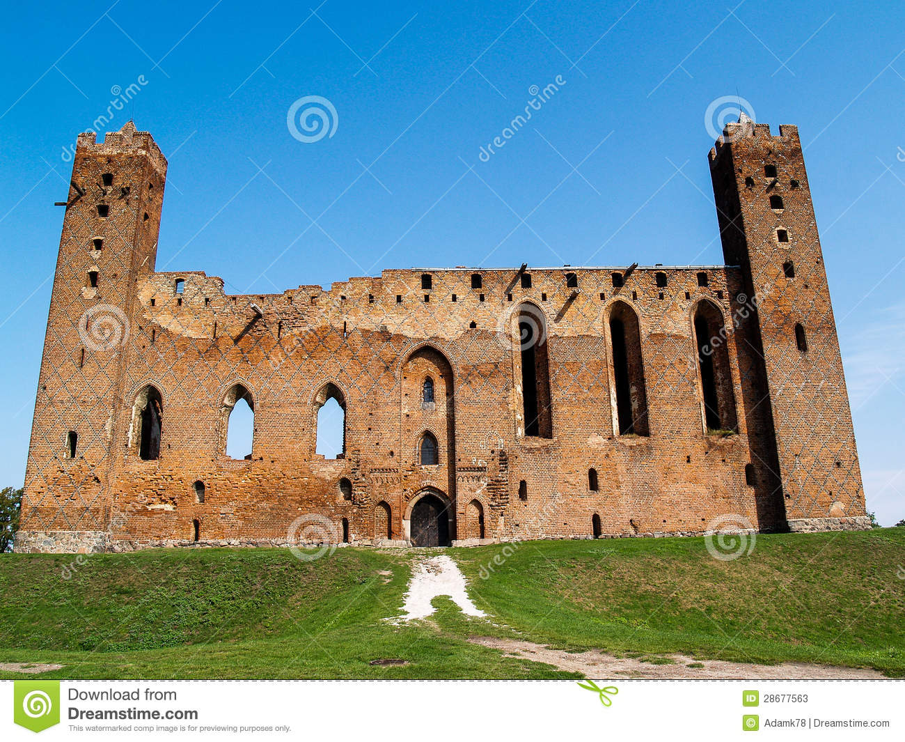 The Ruins Of A Medieval Ordensburg Castle Built By The Teutonic.