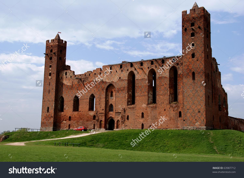 Gothic Ruins Castle Teutonic Knightspoland Stock Photo 63987712.