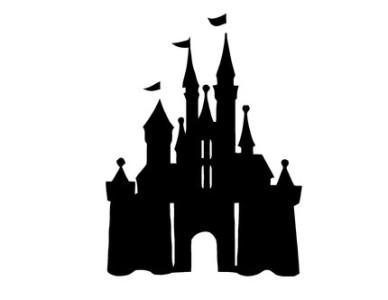 Disneyland Castle Silhouette.