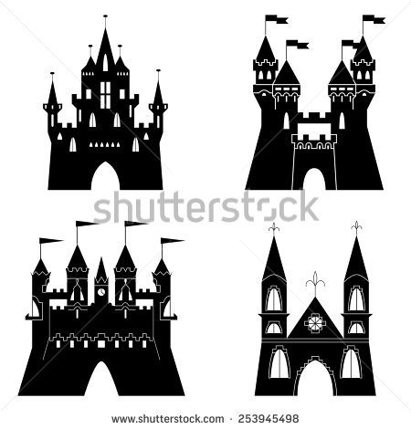 Castle On Rock Silhouette Clipart Clipground