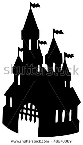 Castle Silhouette Stock Images, Royalty.