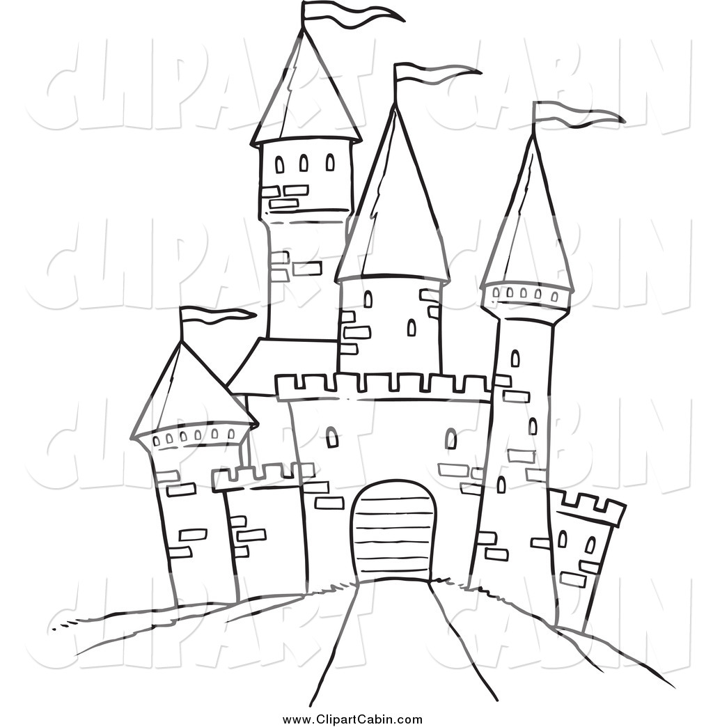 Castle Clipart Black And White.