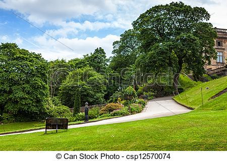 Picture of Nottingham castle park csp12570074.