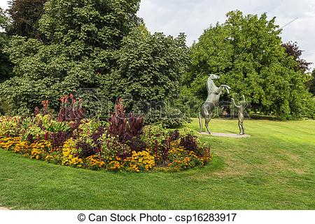 Stock Photography of celle castle park, Germany.