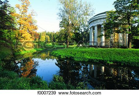 Stock Photograph of Russia, Saint Petersburg, Pavlovsky Castle.