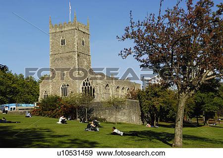 Stock Photograph of England, Bristol, Bristol. The ruin of St.
