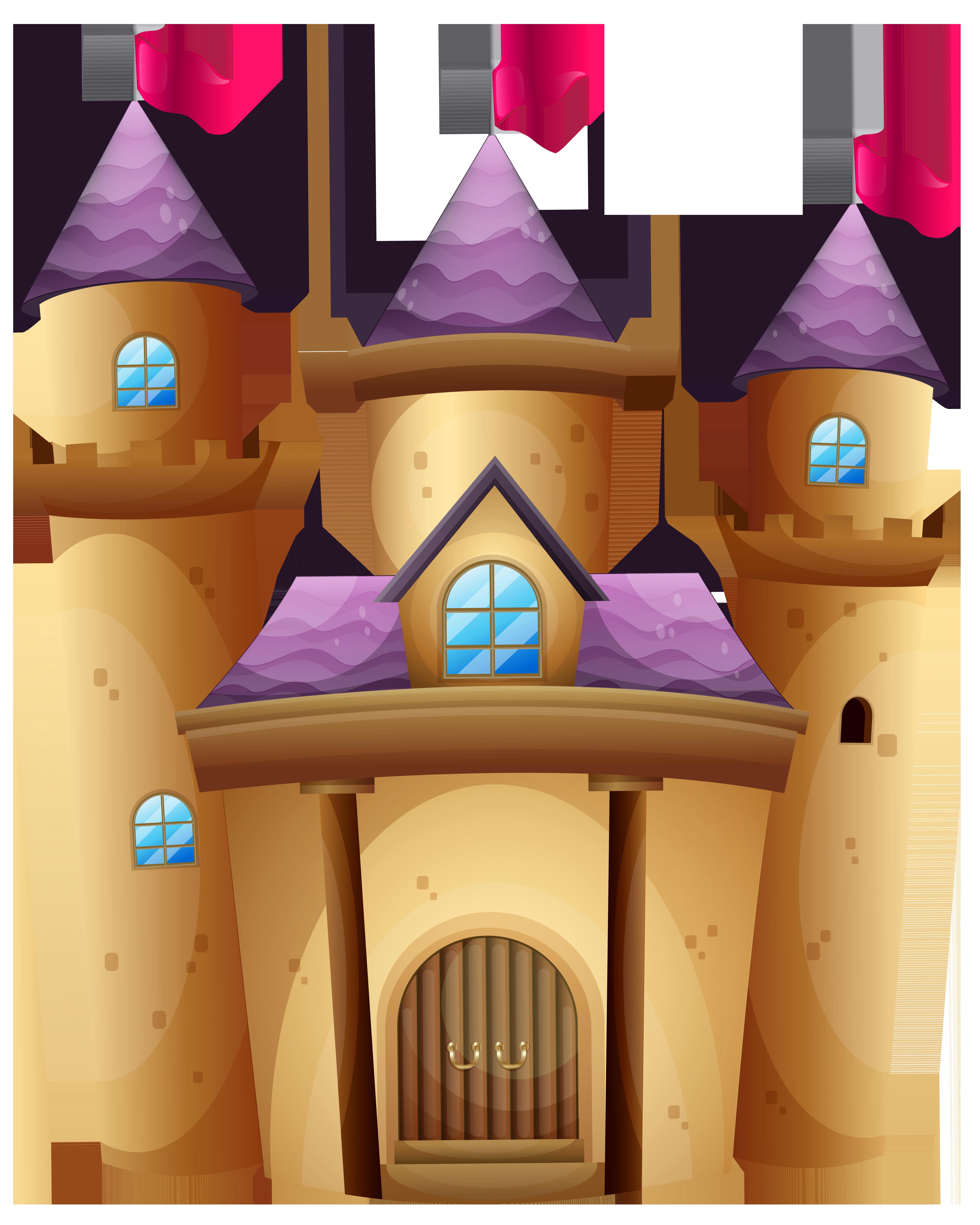 Castle PNG Clip Art Image.
