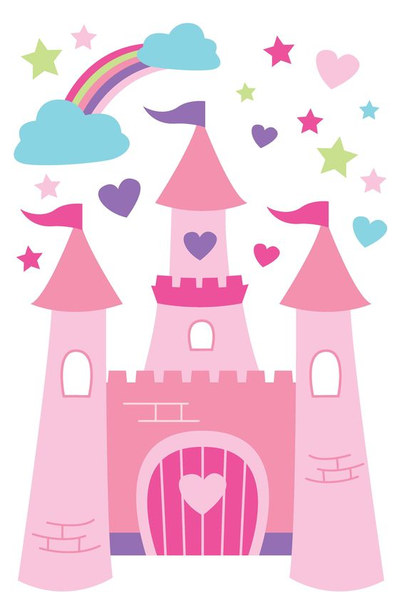 For Walls Princess Castle Wall Decals, Children's Decor.