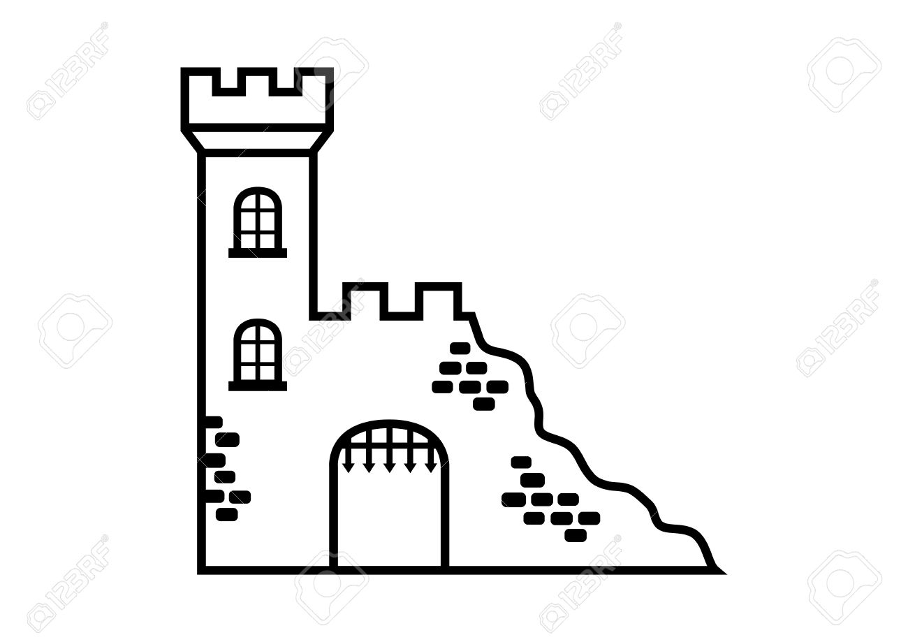 Castle Ruins Royalty Free Cliparts, Vectors, And Stock.