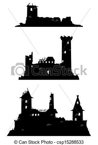 Vectors of Castle ruins csp15288533.