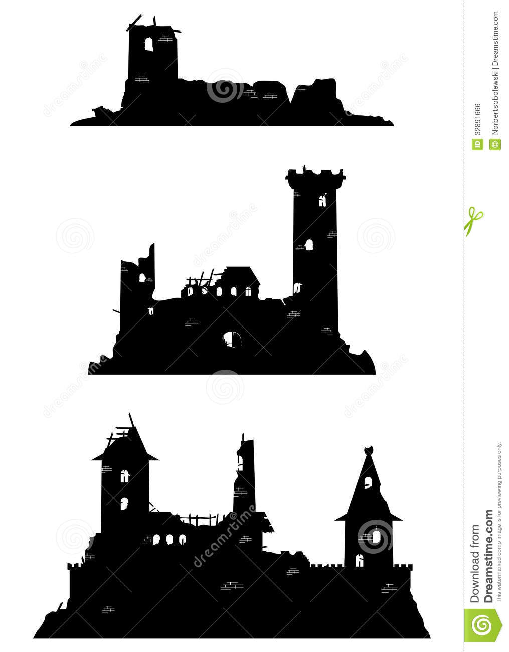 Castle Ruins Royalty Free Stock Image.