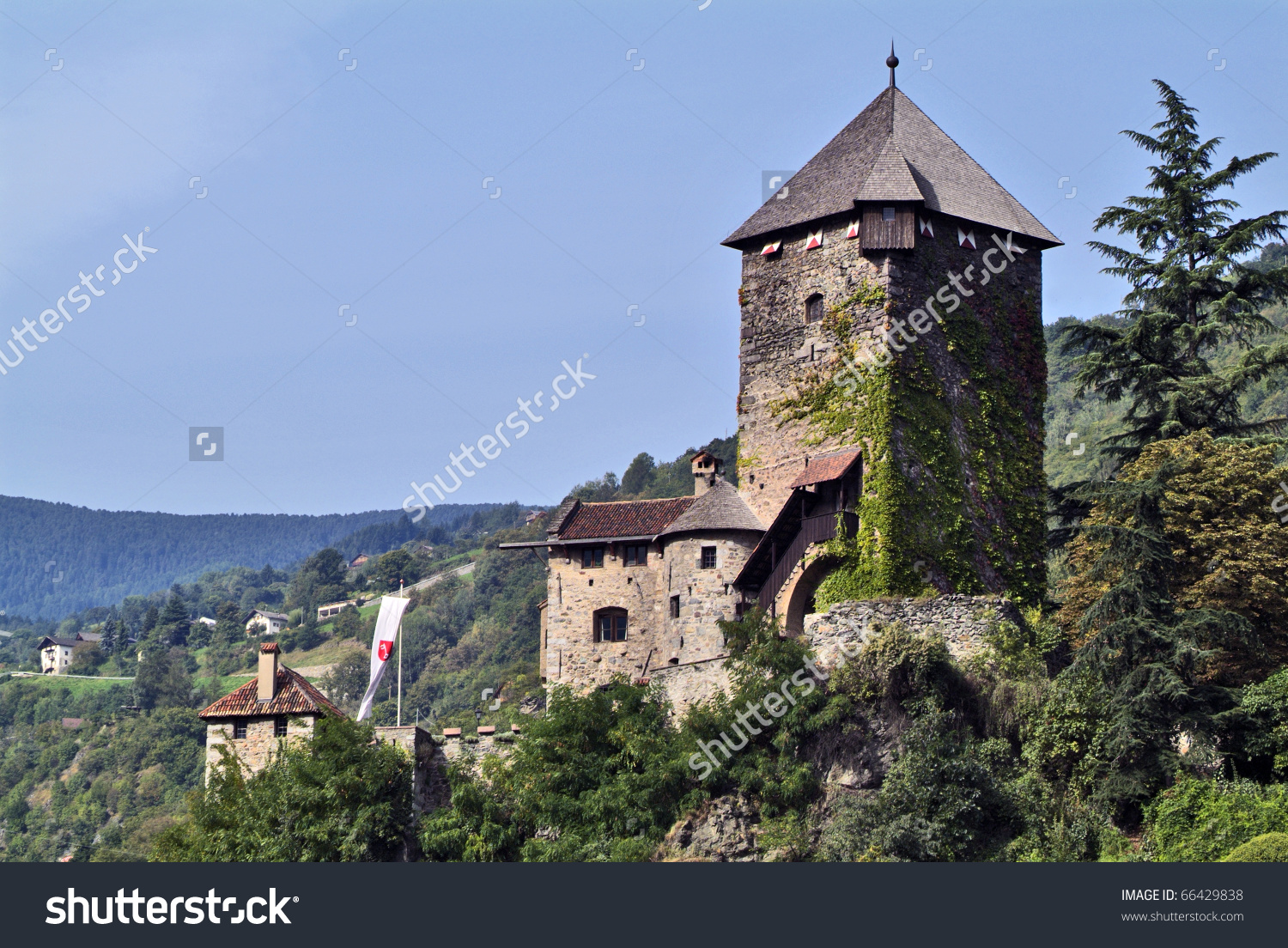Italy, Castle Branzoll In Klausen ( Chiusa) In South Tirol Stock.