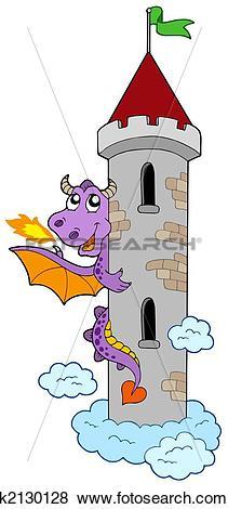 Castle tower clipart #12