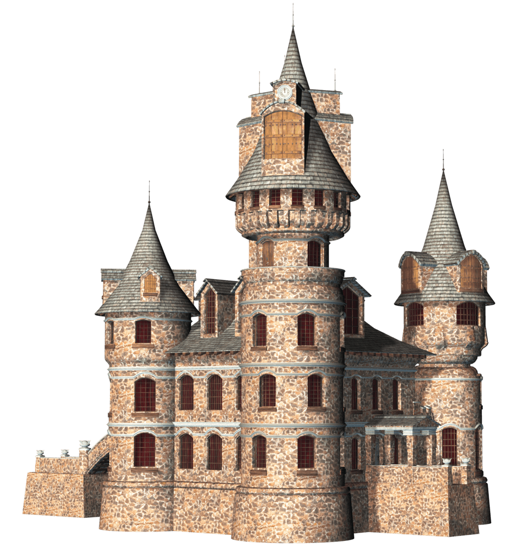 Castle 3D Clipart transparent PNG.