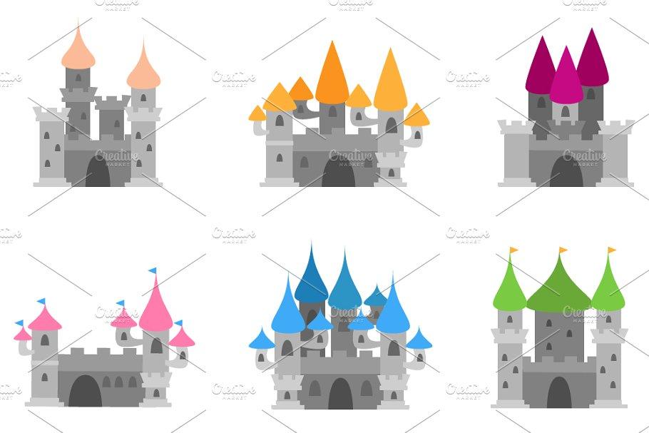 Castles Vectors and Clipart.