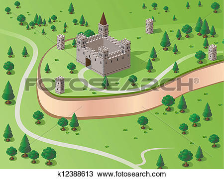 Clipart of Vector castle k12388613.