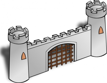 Clipart castle wall.