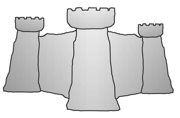 Castle courtyard wall clipart.
