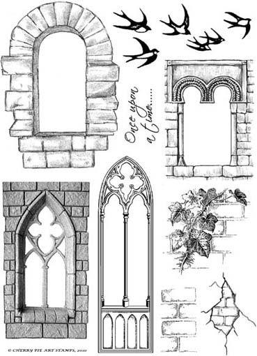 castle windows clipart.